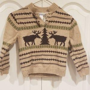 Janie and Jack Boys 4T wool Moose Sweater & Pants